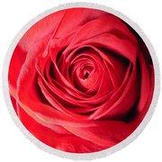 Luminous Red Rose 7 Round Beach Towel