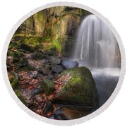 Lumsdale Falls 2.0 Round Beach Towel