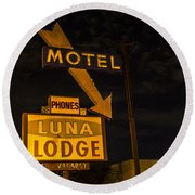 Luna Lodge Night Round Beach Towel