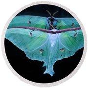 Luna Moth Mirrored Round Beach Towel