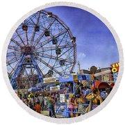 Luna Park 2013 - Coney Island - Brooklyn - New York Round Beach Towel