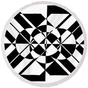 Lunar City Round Beach Towel