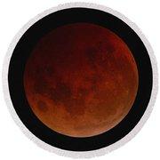 Lunar Eclipse Round Beach Towel