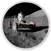 Lunar Ride Round Beach Towel