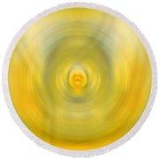 Luscious Lemon - Abstract Art By Sharon Cummings Round Beach Towel