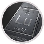 Lutetium Chemical Element Round Beach Towel