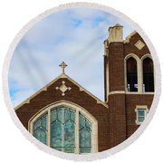 Lutheran Church Round Beach Towel