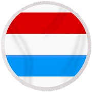 Luxembourg Flag Round Beach Towel