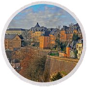 Luxembourg Fortification Round Beach Towel