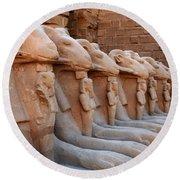 Luxor Temple 3 Round Beach Towel