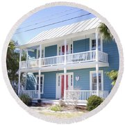 Luxury House  Round Beach Towel