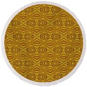 Luxury Red And Gold Foil Christmas Pattern Round Beach Towel