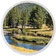 Lyell Canyon Round Beach Towel