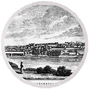 Lynchburg, Virginia, 1856 Round Beach Towel