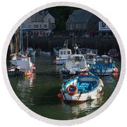 Lynmouth Harbour Devon Round Beach Towel