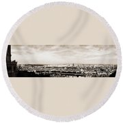 Lyon From The Basilique De Fourviere Round Beach Towel