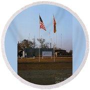 Lz Oasis 3d Brigade None Better Headquarters 4th Infantry Division Vietnam  1969 Round Beach Towel