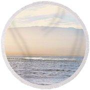 Maalaea Morning Surf Round Beach Towel