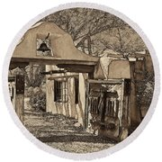 Mabel's Gate - A Different View Round Beach Towel