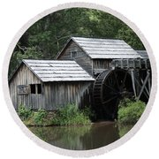 Mabry Mill - Blue Ridge Mountains Round Beach Towel