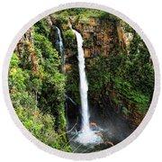 Mac Mac Waterfall In South Africa Round Beach Towel