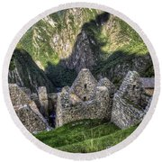 Macchu Picchu - Peru - South America Round Beach Towel