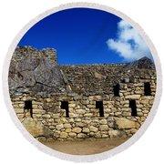 Machu Picchu Peru 13 Round Beach Towel