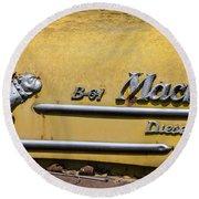 Mack B-61 Diesel Round Beach Towel