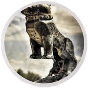 Mack Truck Hood Ornament  Round Beach Towel