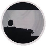 Mad Men In Silhouette Round Beach Towel