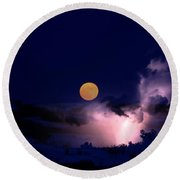 Mad Moon Round Beach Towel
