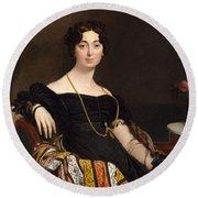Madame Jacques-louis Leblanc. Francoise Poncelle Round Beach Towel