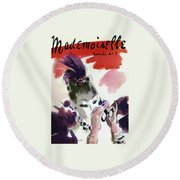 Mademoiselle Cover Featuring A Woman Looking Round Beach Towel