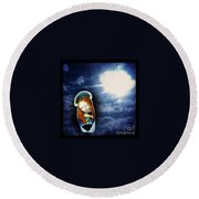 Madonna Lightens The Earth Round Beach Towel