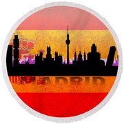 Madrid City Round Beach Towel