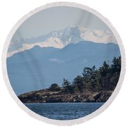 Madrona In December Round Beach Towel