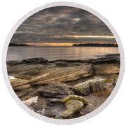 Madrona Point Round Beach Towel