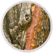 Madrone Tree Bark Round Beach Towel