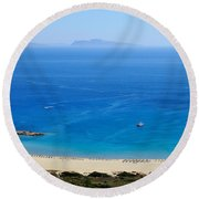 Maganari Beach Round Beach Towel