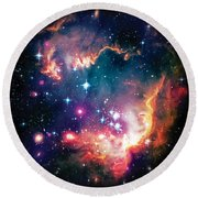 Magellanic Cloud 1 Round Beach Towel by Jennifer Rondinelli Reilly - Fine Art Photography