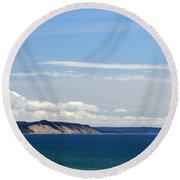Magestic Bluffs Round Beach Towel