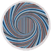 Magic Colorful Abstract Twisted Background Round Beach Towel