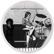 Magic Dick And J. Geils In Oakland 1976 Round Beach Towel