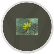 Magic Fern Flower 01 Round Beach Towel