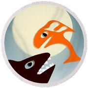 Magic Fish Round Beach Towel