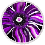 Magic Flower Round Beach Towel