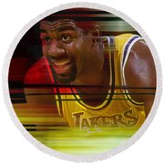 Magic Johnson Round Beach Towel