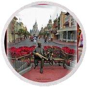 Magic Kingdom Walt Disney World 3 Panel Composite Round Beach Towel