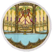 Magic Mirror - Cake  Round Beach Towel