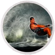 Water Skiing Magical Waters 2 Round Beach Towel